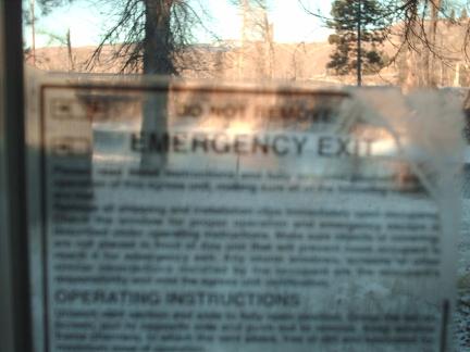 warning window