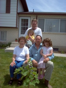 planting a shade tree for the lad and his family