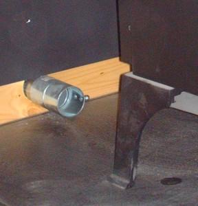 stove vent close up