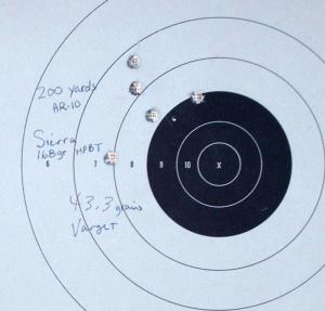 targets of Sierra 168s