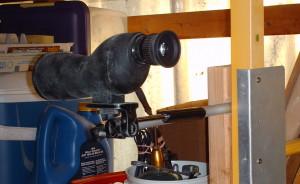target range opening spotting scope