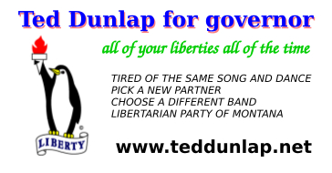 ted for governor card