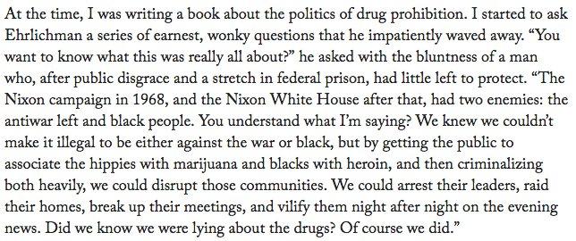 the war on drugs begins