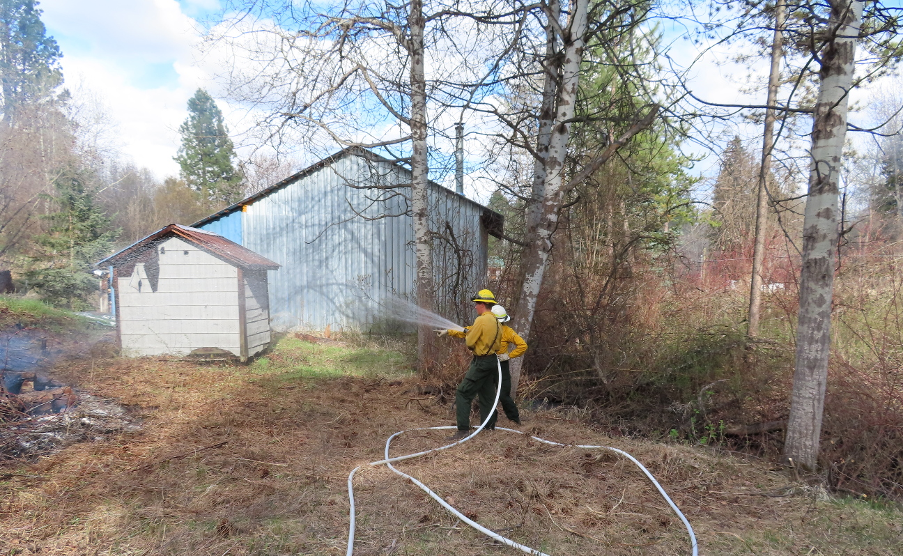 Burn Pile 1 Shed Protection Crew « Ted Dunlap